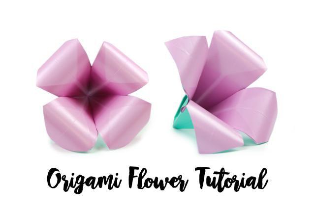 Learn how to make an easy origami flower easy origami flower learn how to make an easy origami flower mightylinksfo