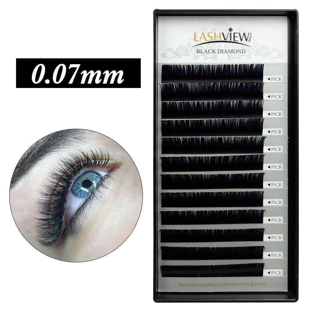 Lashview 3d Volume Eyelash Extensions Individual Lash B C D 007mm