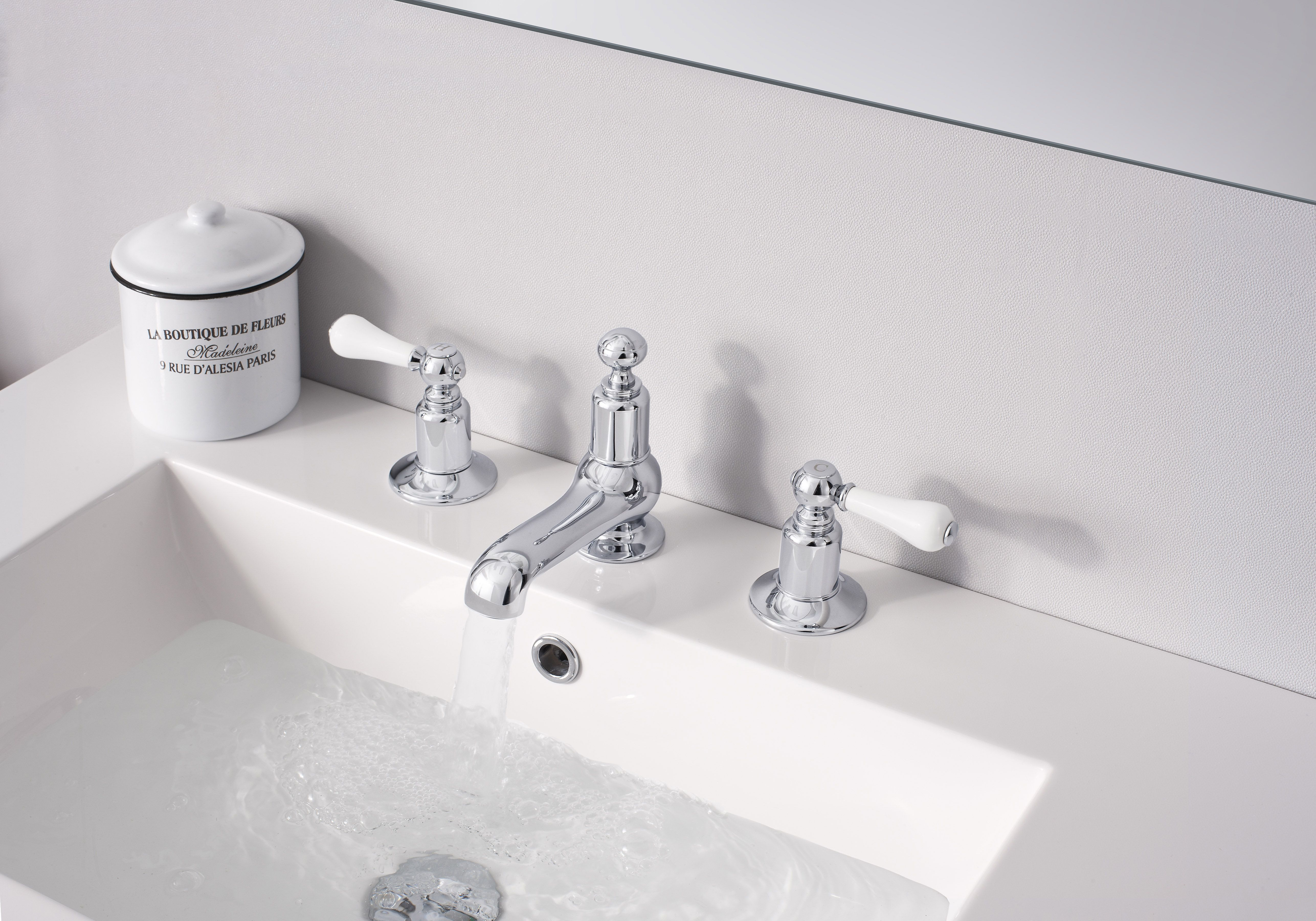 Belgravia Lever Bathroom Basin 3 Hole Tap Set from Crosswater http ...