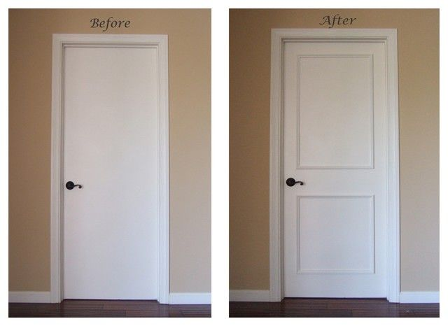 Plain White Interior Doorsinstant Two Panel Raised Door Moulding Kit Traditional Tifave : door moldings - Pezcame.Com