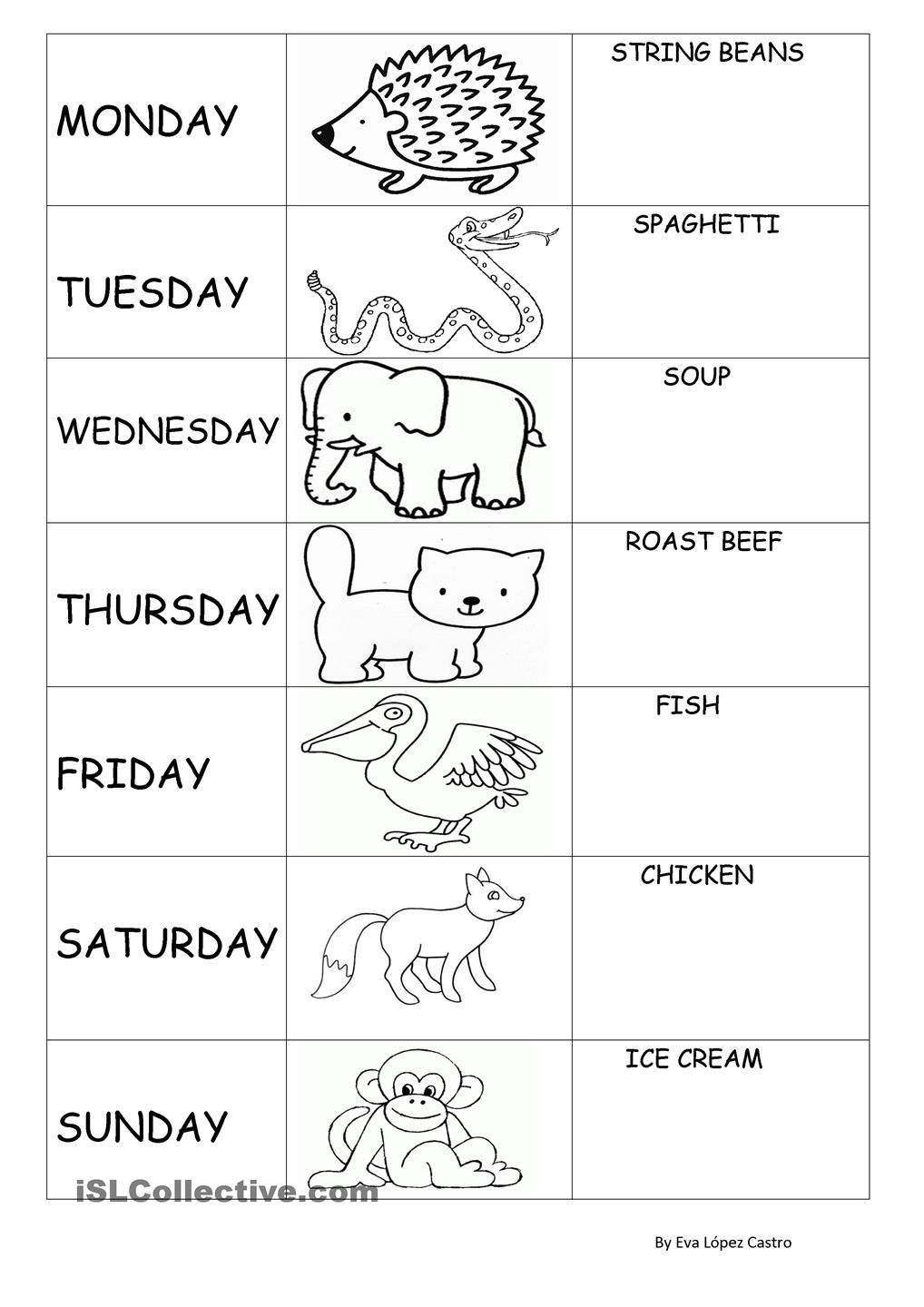 Today is Monday Eric carle activities, Lesson plans for