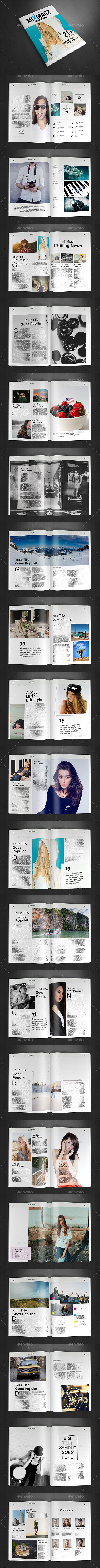 A4 Magazine Template Vol.29 | Pinterest