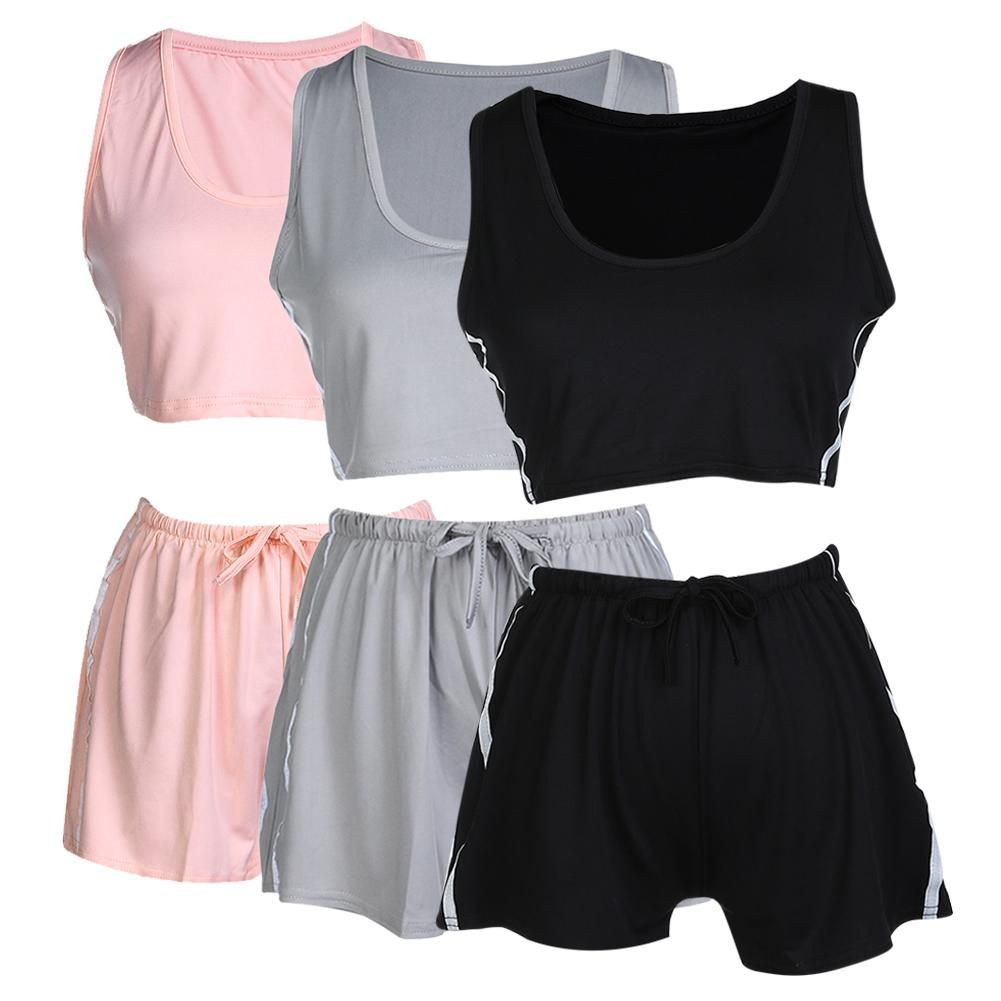 Sporty you look matching set bra sport top shorts