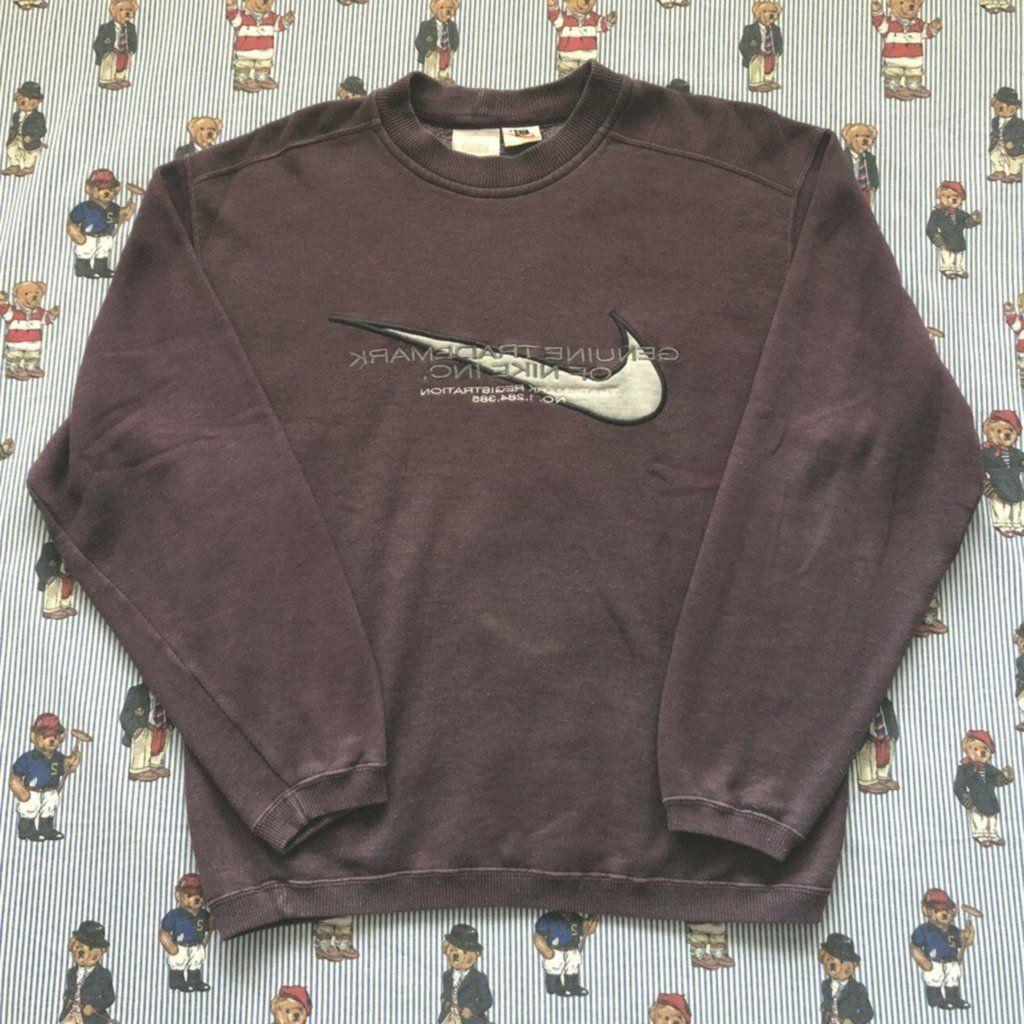 Vintage Burgundy Nike Sweatshirt M Vintage Herrenmode Herren Mode Mode [ 1024 x 1024 Pixel ]