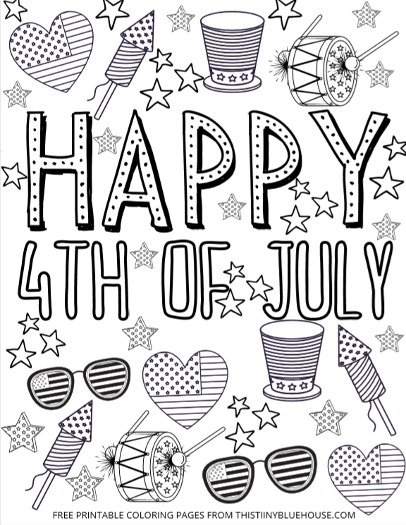 Super Cute Free Printable 4th Of July Coloring Page Bundle Coloring Pages Free Printable Coloring Pages Craft Activities For Kids