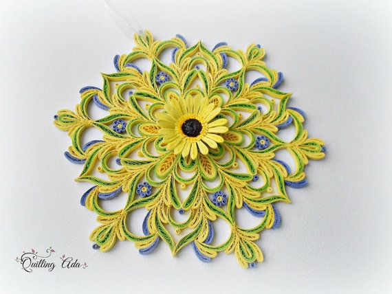 This wall decoration is my own creation, made with the quilling ...