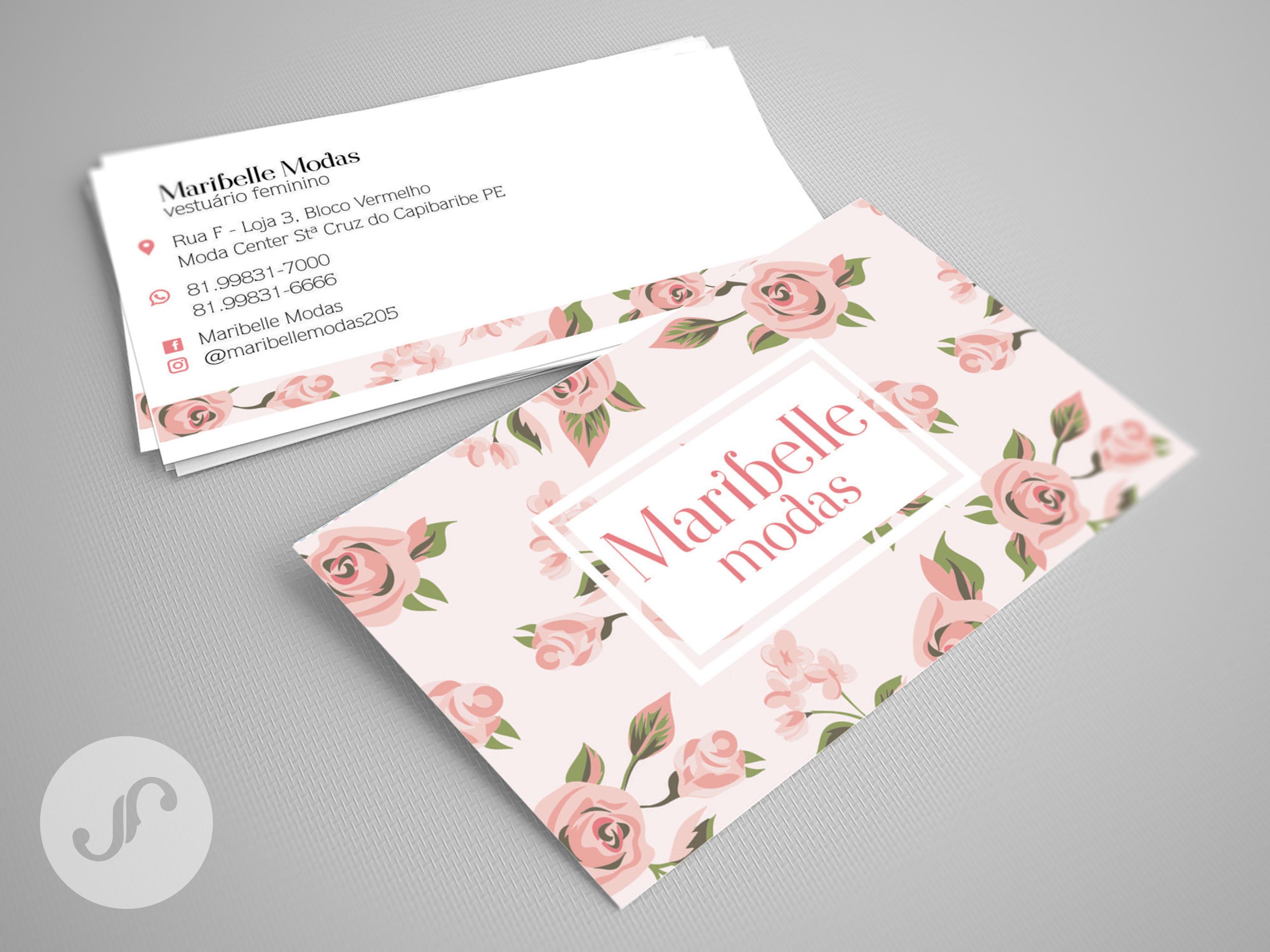 Super Modelo de cartão de visitas criado para a loja de roupas femininas  QJ62
