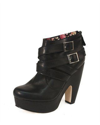 CUSP | Shoes | New Arrivals | Theory Buckled Booties, Black (Cusp Most Loved!) on Wanelo