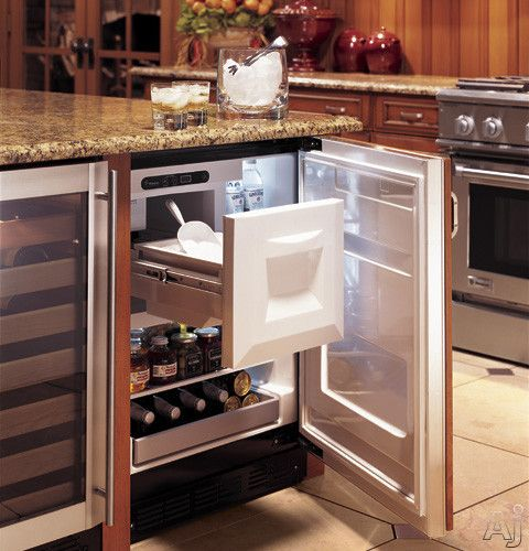 Monogram 24 Inch Built In Compact Bar Refrigerator With Cu Ice Capacity Icemaker And Ada Compliant Requires Custom Panel Handle