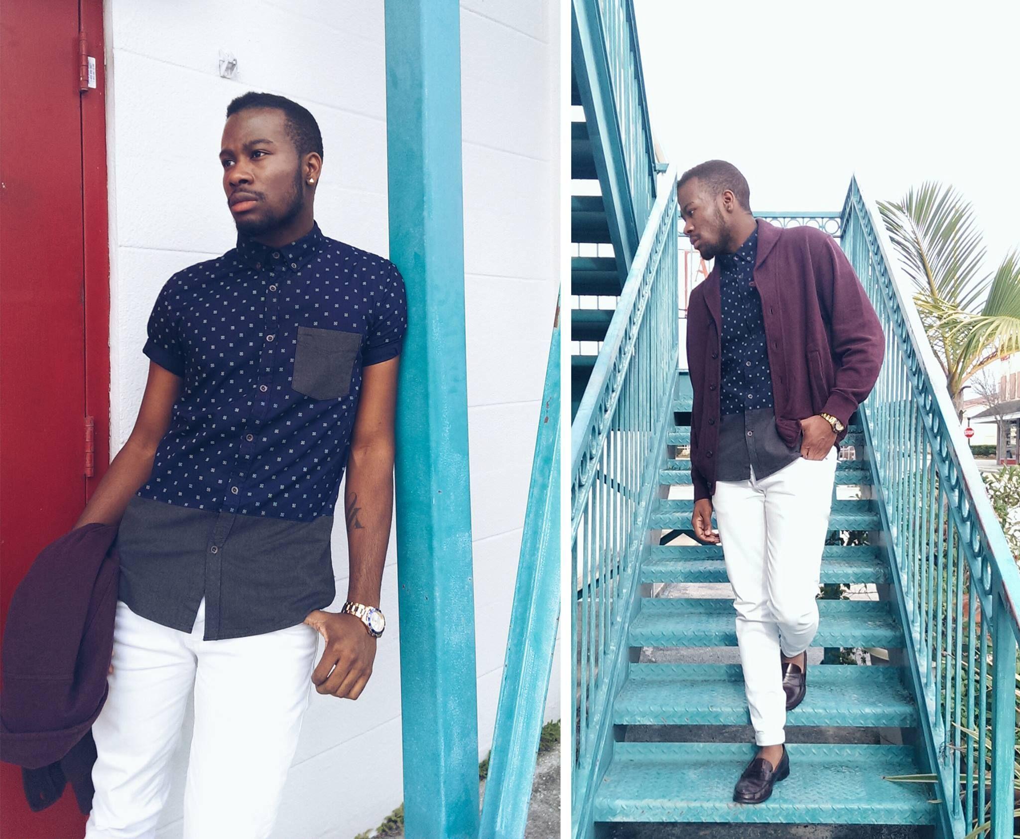 Outfits para hombres con camisa manga corta   Camisa manga corta ...