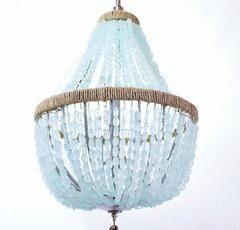 Celeste Sea Glass Empire Chandelier Nuggets Sea Glass Chandelier Empire Chandelier Chandelier