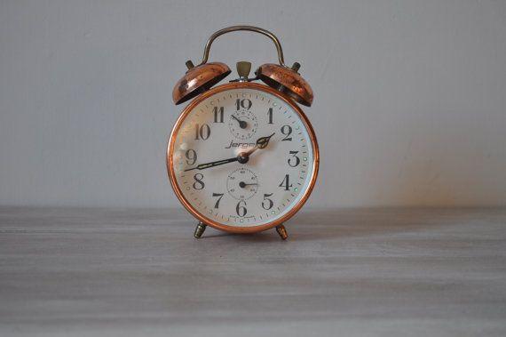 Vintage Copper Alarm Clock German Make Jerger by LaManche ...