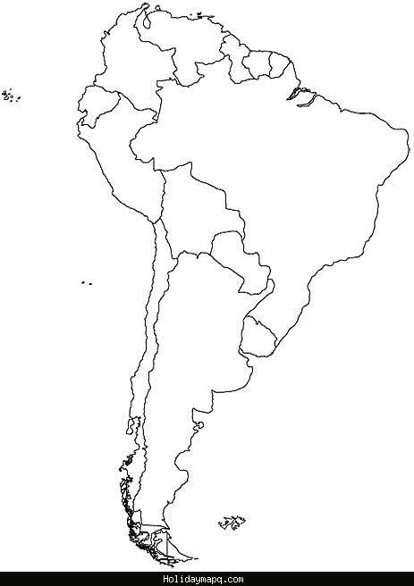 nice South America Map Holidaymapq South america map, America