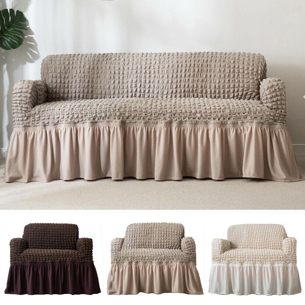 27 90 Plush Elastic Sofa Covers Stretch Couch Slipcover Furniture Protector Us Sofa Slipcover Ideas Of Sofa