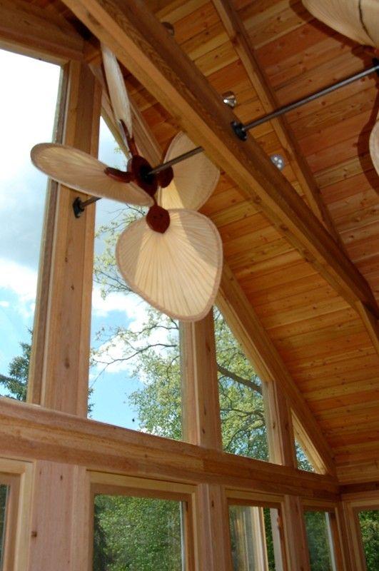 Natural Palm Leaf Paddle Fan Ceiling Fan Cabin Lighting Fan