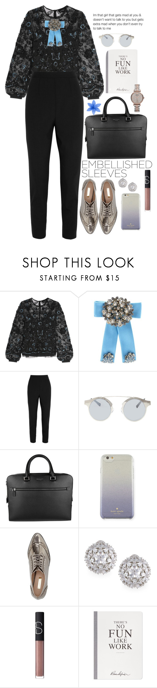 """°"" by jordan-mobley ❤ liked on Polyvore featuring Needle & Thread, Dolce&Gabbana, Forever 21, Michael Kors, Kate Spade, Louise et Cie, Fallon, NARS Cosmetics, Selfridges and Emporio Armani"