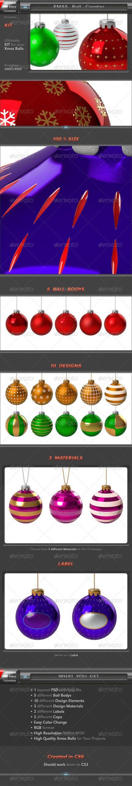 Free Download Xmas Ball Creator In 2020 The Creator Design Christmas Design