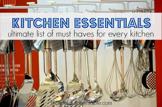 Comprehensive List Of Basic Kitchen Needs