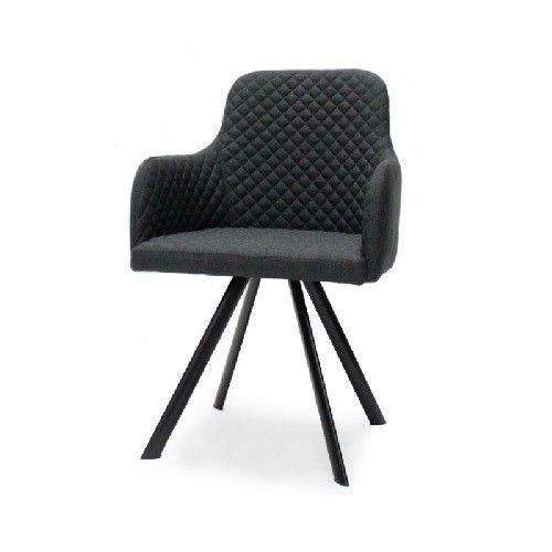 Eetkamerstoel Hogith antraciet is een stijlvolle stoel voor in de ...