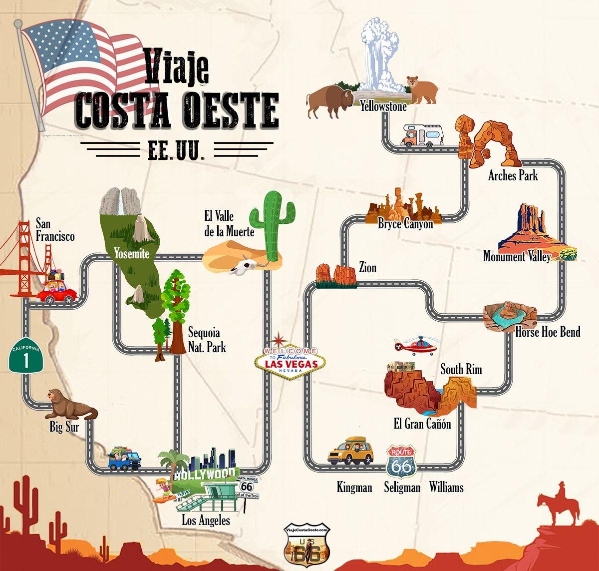 Planifica Tu Propia Ruta Para Viajar Por La Costa Oeste De Eeuu