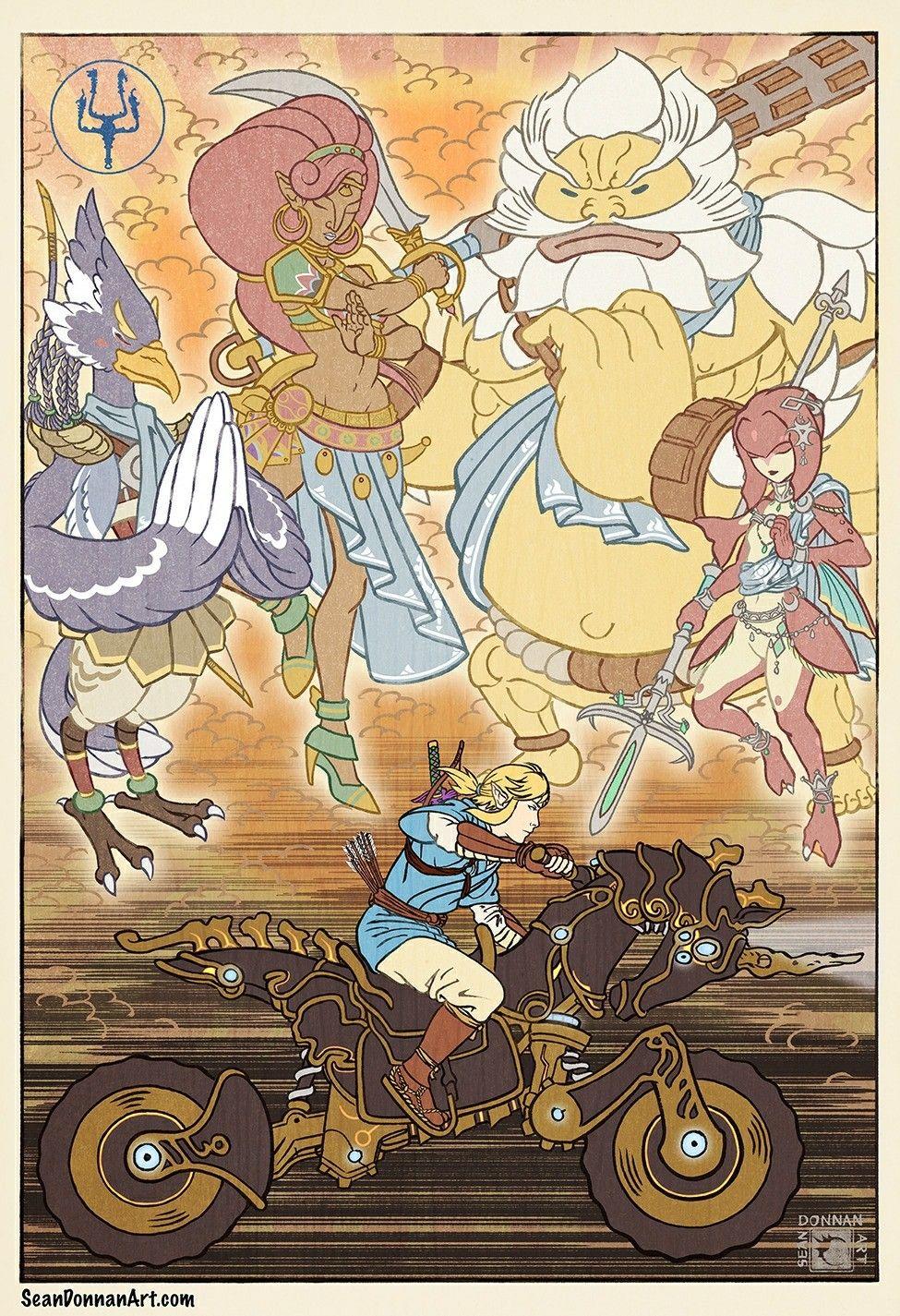 5d965a3b9be The Champions' Ballad Hyrule Warriors, Legend Of Zelda Breath, Link Zelda,  Breath
