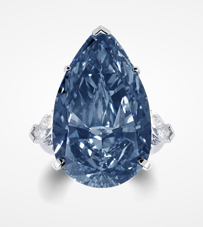 The Blue Ice - A rare fancy deep blue diamond ring set ...