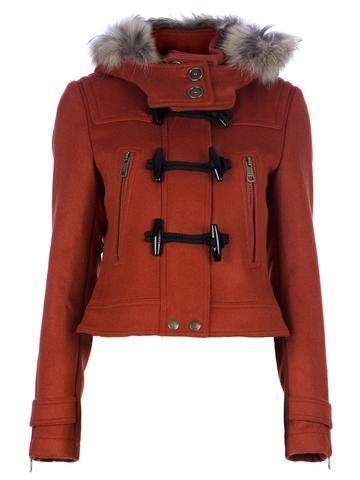 11f719189fb85 Burberry Brit Cropped Hooded Coat - Stefania Mode - Farfetch.com ...