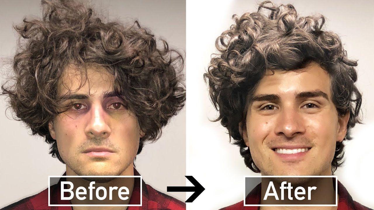 Best Curly Hair Tutorial For Straight Men Youtube Hair Tutorial Curly Hair Tutorial Curly Hair Styles