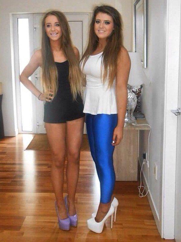 Teen girls wearing high heels, hot sexy girls mentai