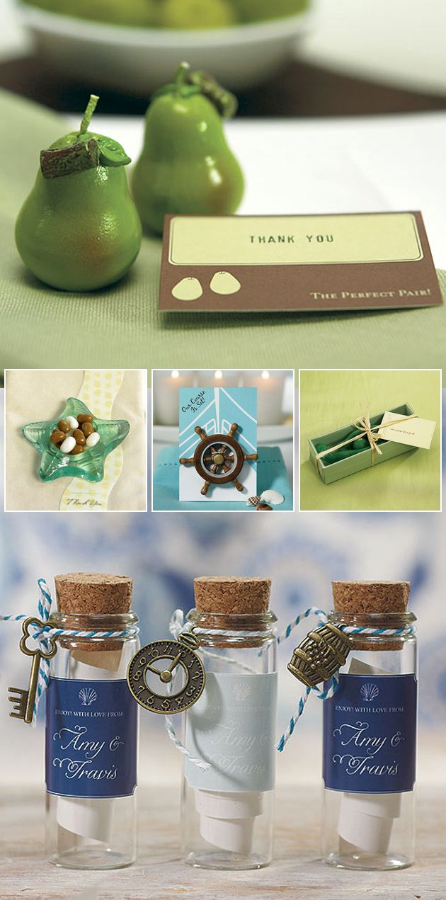 Fun fresh fab wedding favours themed weddings favors and weddings beach and green themed wedding favours junglespirit Gallery