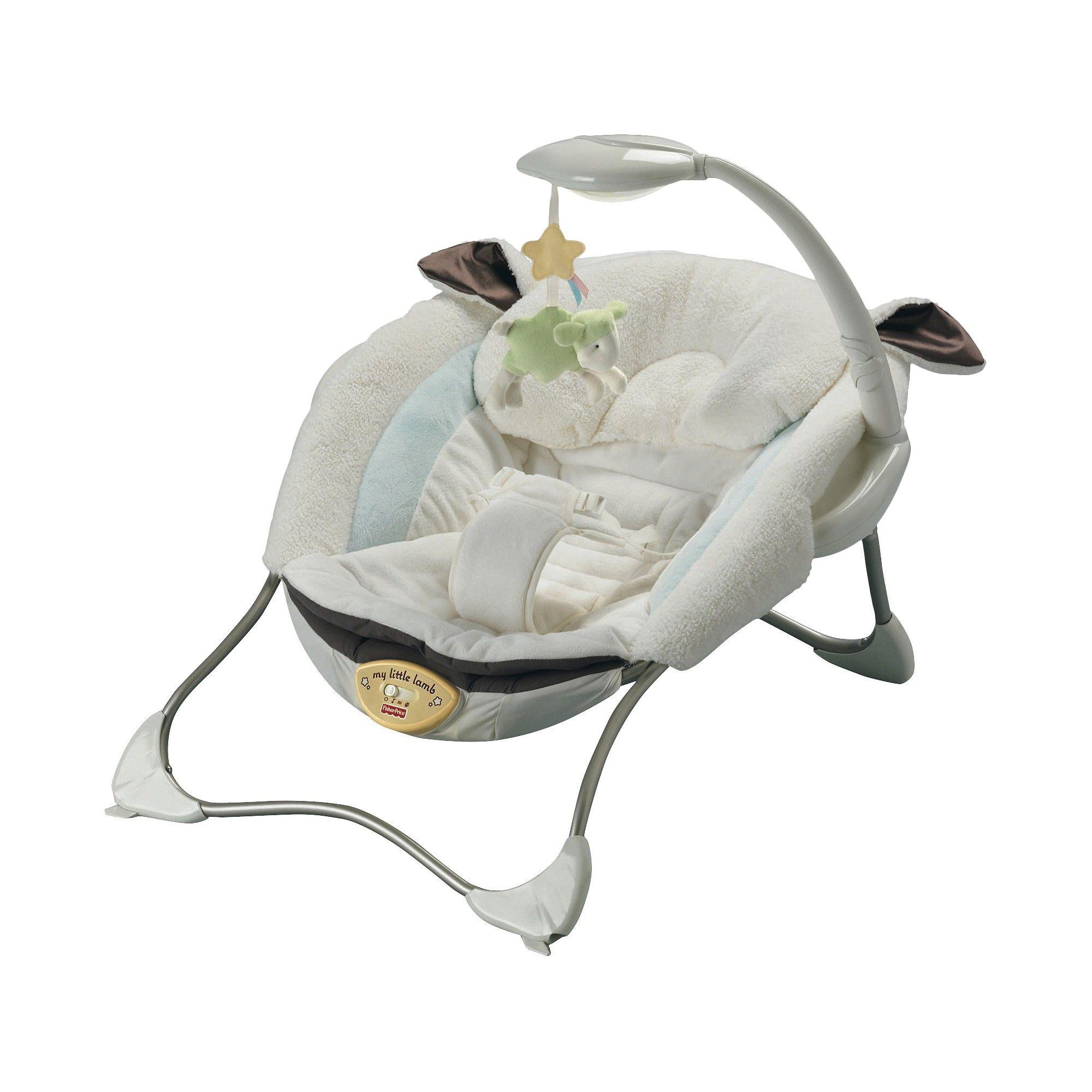 FisherPrice My Little Lamb Infant Seat, White Baby