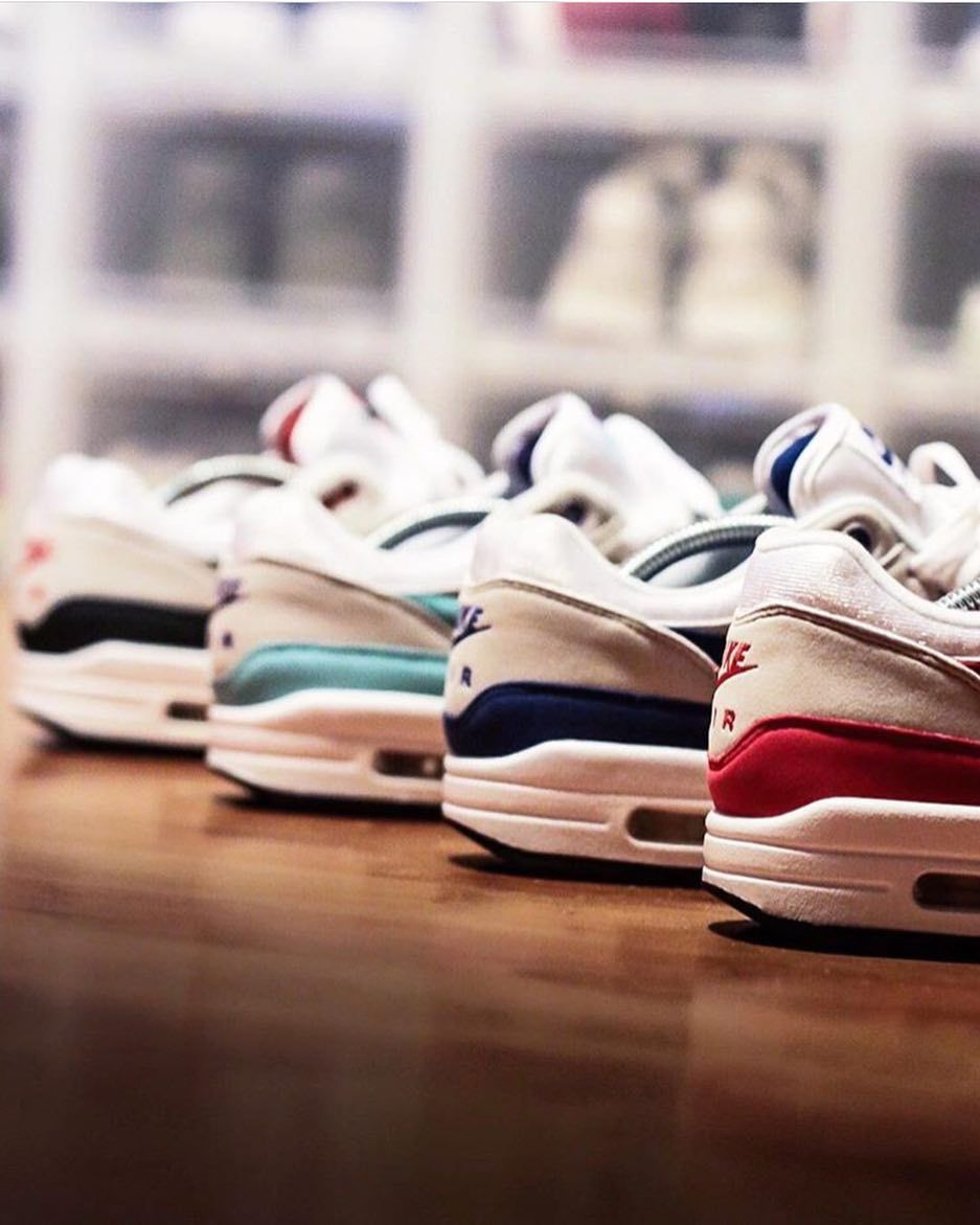 Back shot! You gotta love the OG Nike Air Max 1 colorways! by  maikelboeve   sneakersmag  nike  nikeair  airmax1 5c53945df1ef7