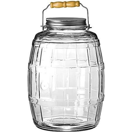 Anchor Hocking 85679ahg17 2 5 Gallon Glass Barrel Jar With Lid Walmart Com Glass Jars With Lids Glass Jars Jar Storage