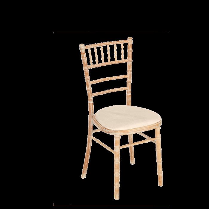 Location de mobilier, chaises, chaise Bambou assise écrue