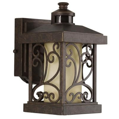 Beautiful Visit The Home Depot To Buy Progress Lighting Cypress Collection Wall Mount  Outdoor Forged Bronze Motion Sensing Lantern