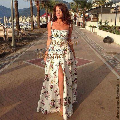 4879ffb457d Платья ручной работы. Ярмарка Мастеров - ручная работа. Купить Платье  сарафан длинное в пол. Handmade. Белый