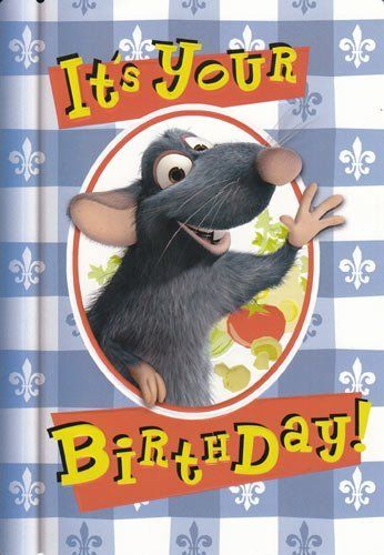 Greeting Card Birthday Disney Pixar Ratatouille Quot It S Your