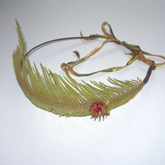 Autumnal Fern Fairy Crown by filigreefairy on Etsy, $22.00