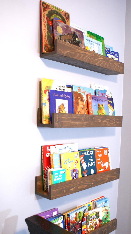 Floating Book Shelf Magazine Shelves Nursery Book Etsy Nursery