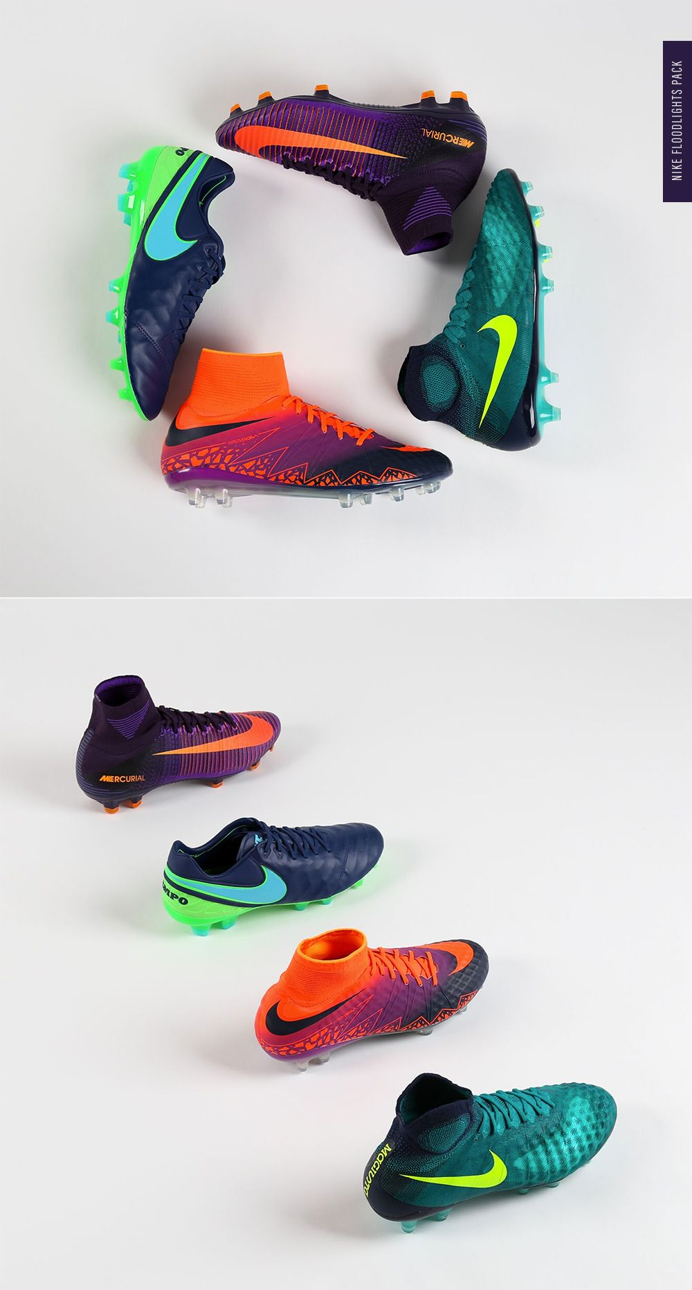 premium selection 9df21 a2ddf Nike Floodlights Pack. Stand out on the pitch in the all new Floodlights  Magista Obra, Hypervenom Phantom, Mercurial Superfly and Tiempo Legend.