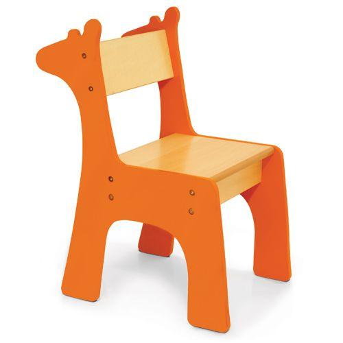 Conjunto mesa y sillas infantiles jirafa sillas y - Silla infantil madera ...