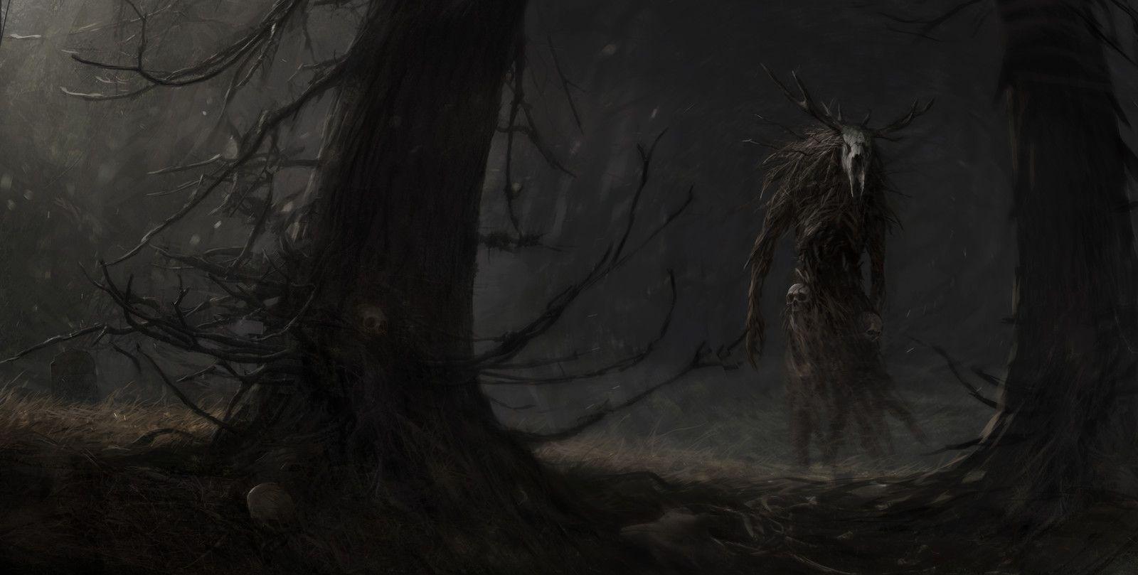 deep forest, Artem Demura on ArtStation at https://www.artstation.com/artwork/PEZB4
