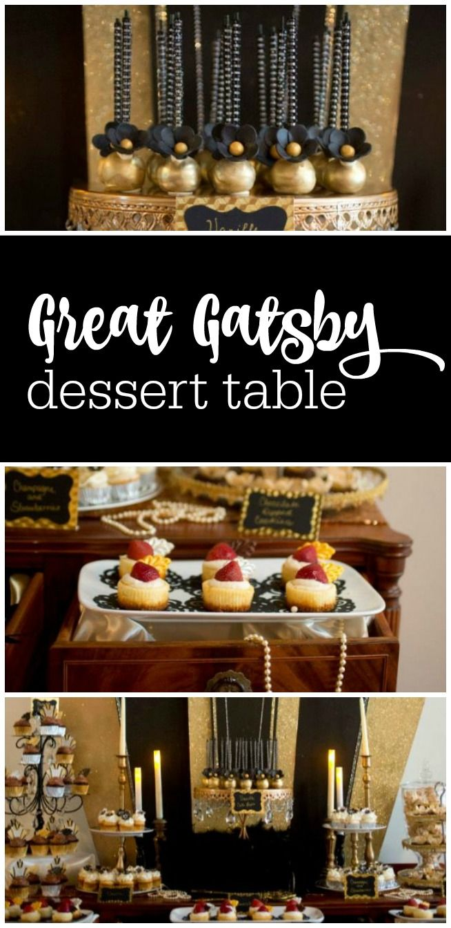 Guest Party Great Gatsby Dessert Table Roaring 20s