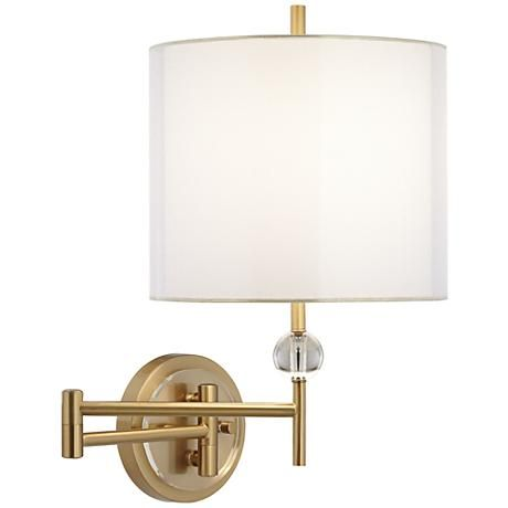 Kohle Brass and Acrylic Ball Swing Arm Wall Lamp Warm, Lighting solutions and Acrylics