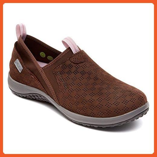 Rockport Women's WALK360 Perf Slip On Ebano Nubuck 6.5 M - Athletic shoes  for women (