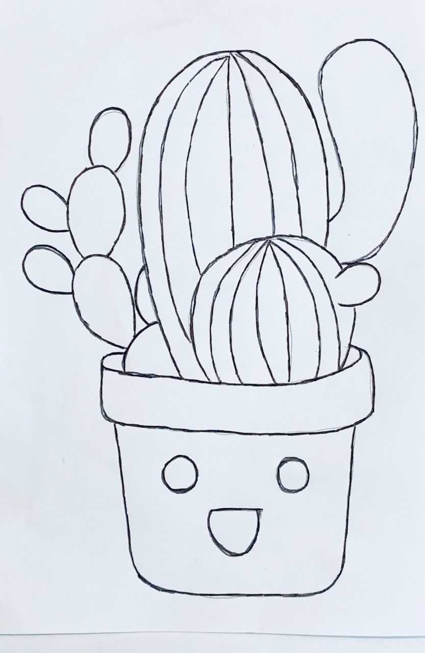 Pintura Cactus Na Fralda Com Imagens Presentes Artesanais Para