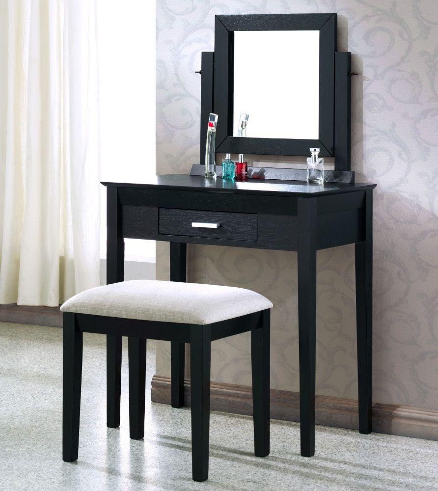 Small Black Bedroom Vanity (With images) | Bedroom vanity ...