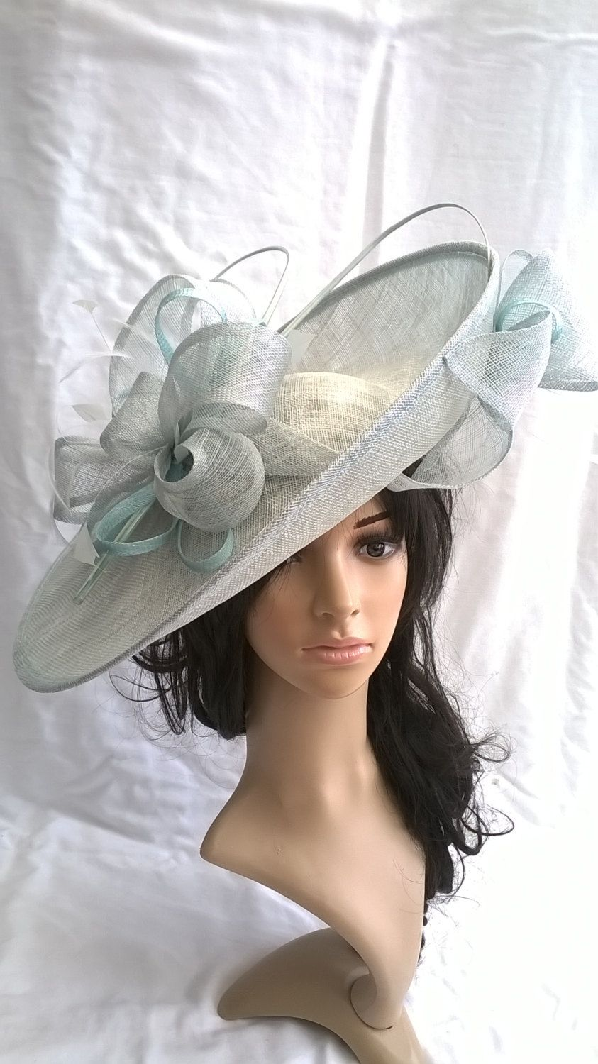Stunning Sinamay Fascinator Hat on a Headband..Hatinator by  SpecialDayfascinator on Etsy 8d8b084a217