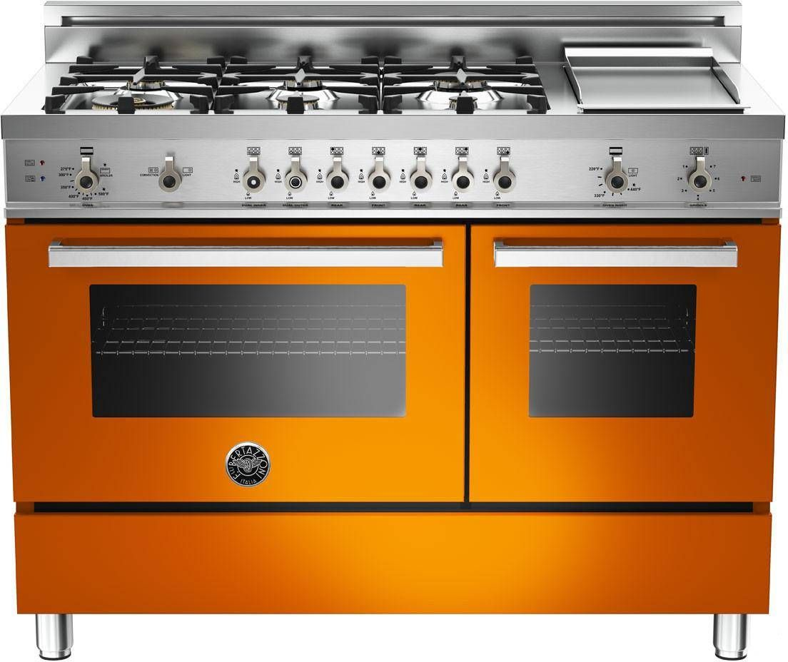 Orange Stove, Why Not? Bertazzoni Model: PRO486GGASAR