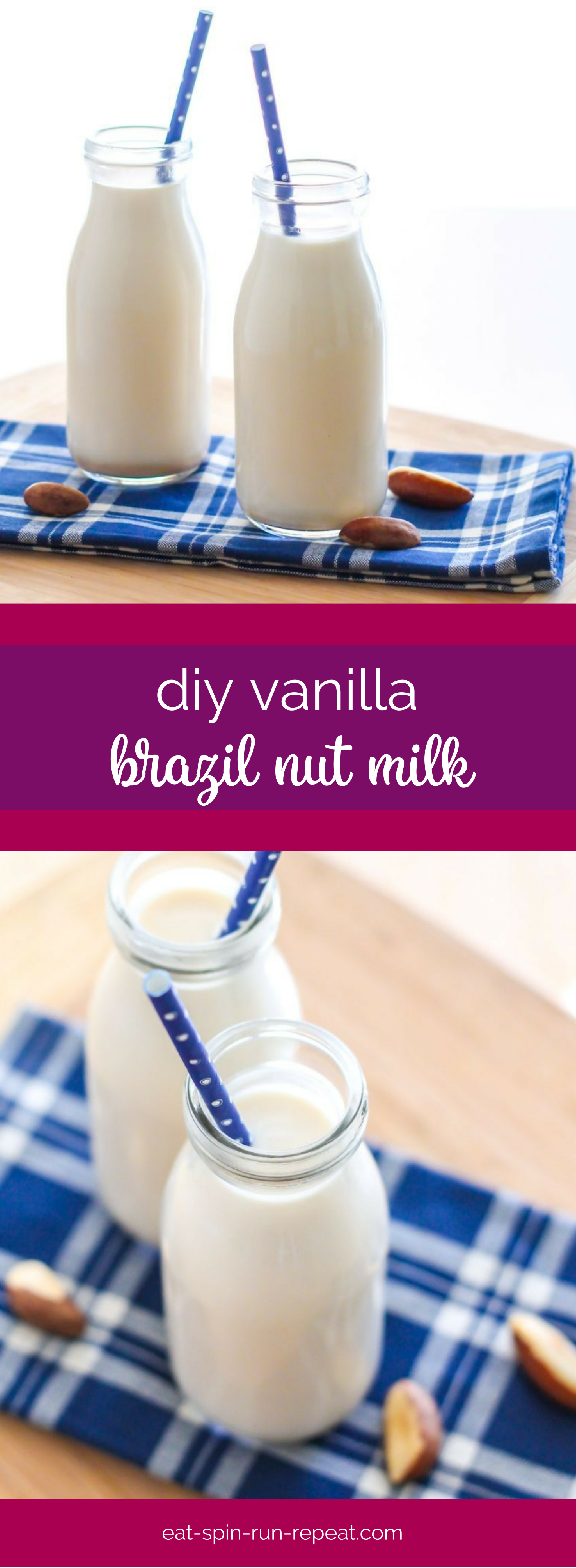 This DIY vanilla Brazil nut milk will take your next pumpkin spice latte to a whole new level! Vegan, dairy-free, gluten-free and naturally sweetened with dates.